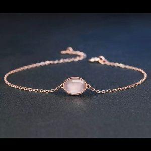 Rose Quartz & Rose Gold Plated  Bracelet 10950